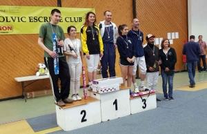 Escrime : Marion Berger et Romain Touron vainqueurs à Volvic