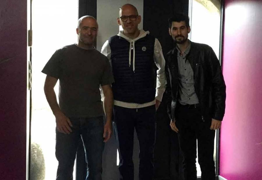 Sur la photo de gauche à droite, Louis-Jo Jourdana (trésorier), Thomas Scalliet (président), Patrick Rodrigues (secrétaire).