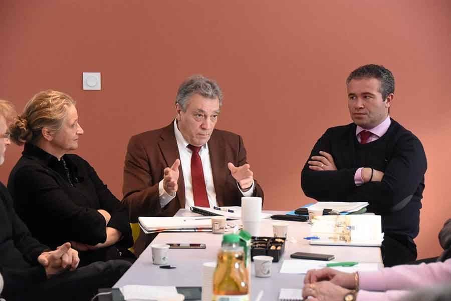 Christine Hacques, sous-préfète, Yves Rousset, préfet, et Julien Melin, président du Haut-Lignon.