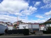 Puy-en-Velay : la fête foraine s'installe sur la place du Breuil