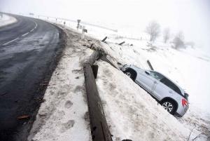 Araules : il perd le contrôle sur la RD15 et finit en contrebas de la route