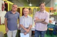 Michel Souvignet, président d'AVI 43, Georges Granger, le fondateur, et Emmanuel Roux, directeur.