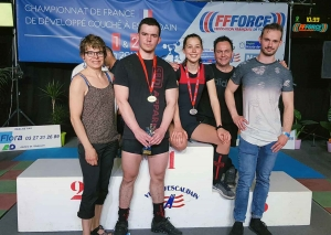 Trois podiums pour l'Athlétic-Club aux championnats de France de développé couché