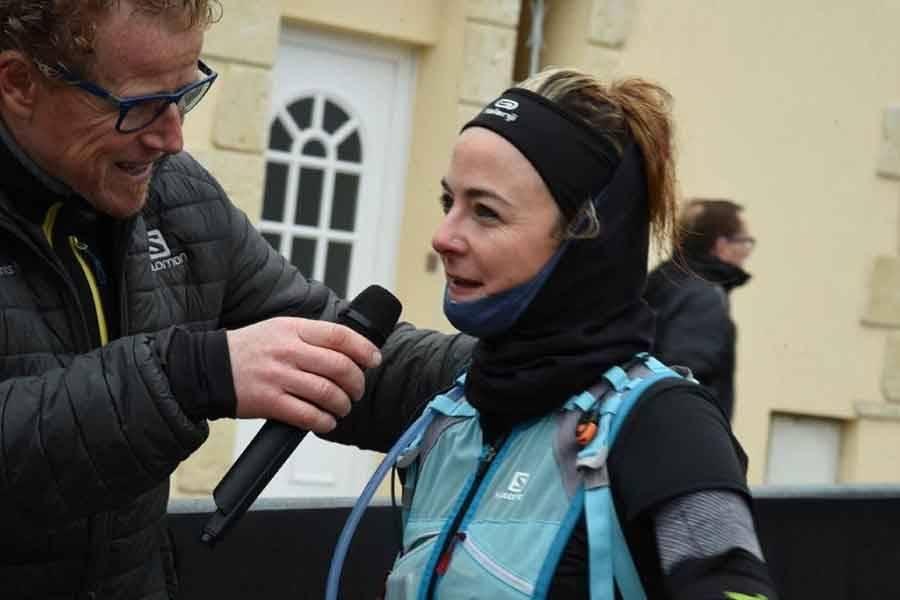 La première féminine au 35 km Audrey Javelle. Photo Lucien Soyere.