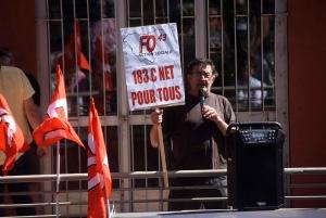Manifestation syndicale contre l'obligation vaccinale au travail