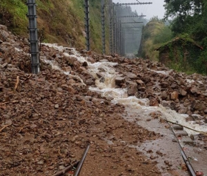 Aucun train entre Le Puy-en-Velay et Saint-Etienne après un éboulement à Aurec-sur-Loire