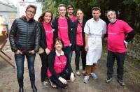 Les salariés de Carrefour Market et les bénévoles du club des jeunes ont donné de leur temps pour les Boucles du coeur.