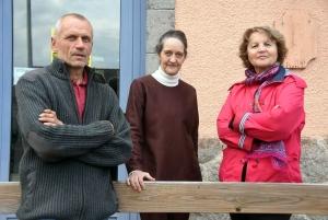 Pierre Rousset, Dominique Bard et Christiane Rousset.