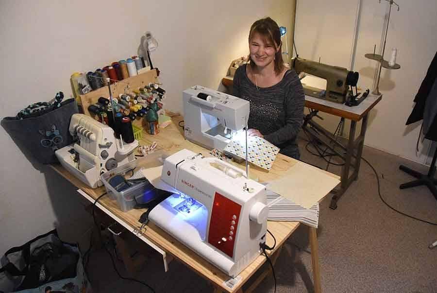 Caroline Foray a créé son atelier à son domicile.