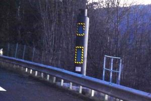 Le nouveau radar de Pont-Salomon repeint en bleu