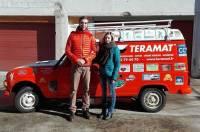 Tence : Pauline Bernard et Sylvain Rolle partent à l'assaut du 20e 4L Trophy