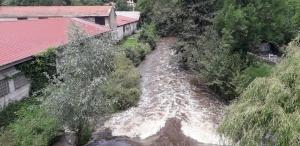 Pont-Salomon : La Semène gonflée par les pluies diluviennes