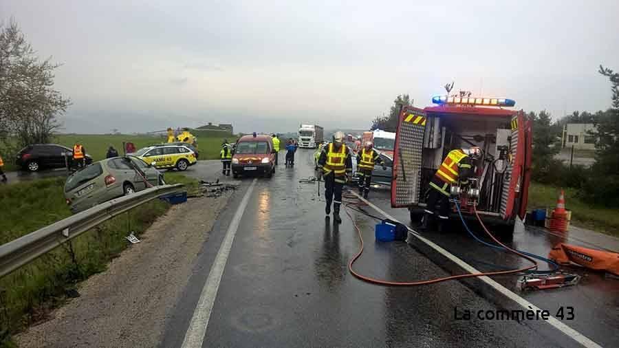 Monistrol-sur-Loire : la victime de l'accident toujours dans un état critique