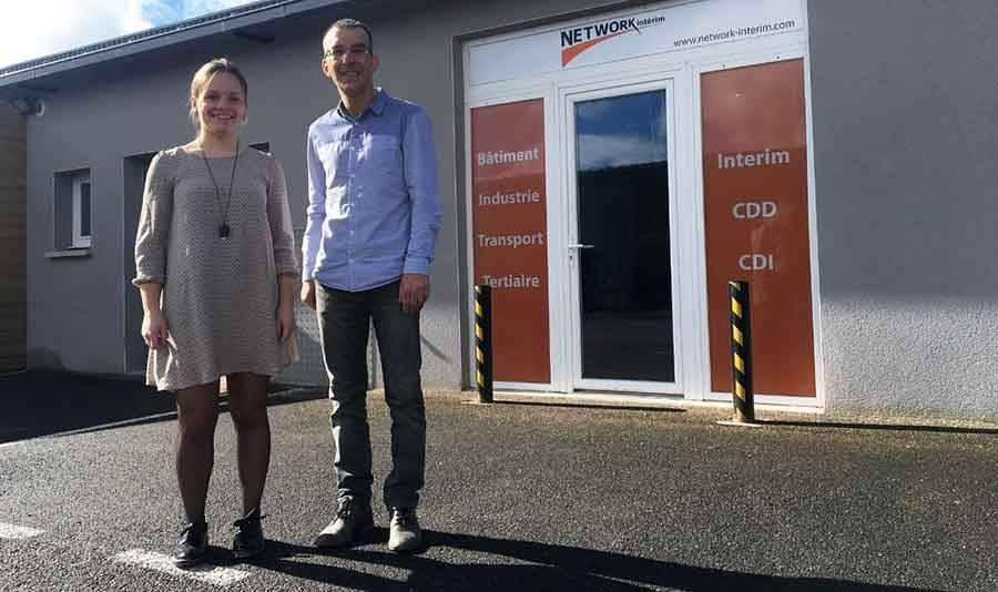 Fanny Marcon et Fabien Rouchon sont vos interlocuteurs chez Network Intérim à Monistrol