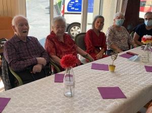 Une centenaire à la maison de retraite de Saint-Maurice