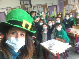 Sainte-Sigolène : les élèves de l'école Saint-Joseph fêtent la Saint-Patrick