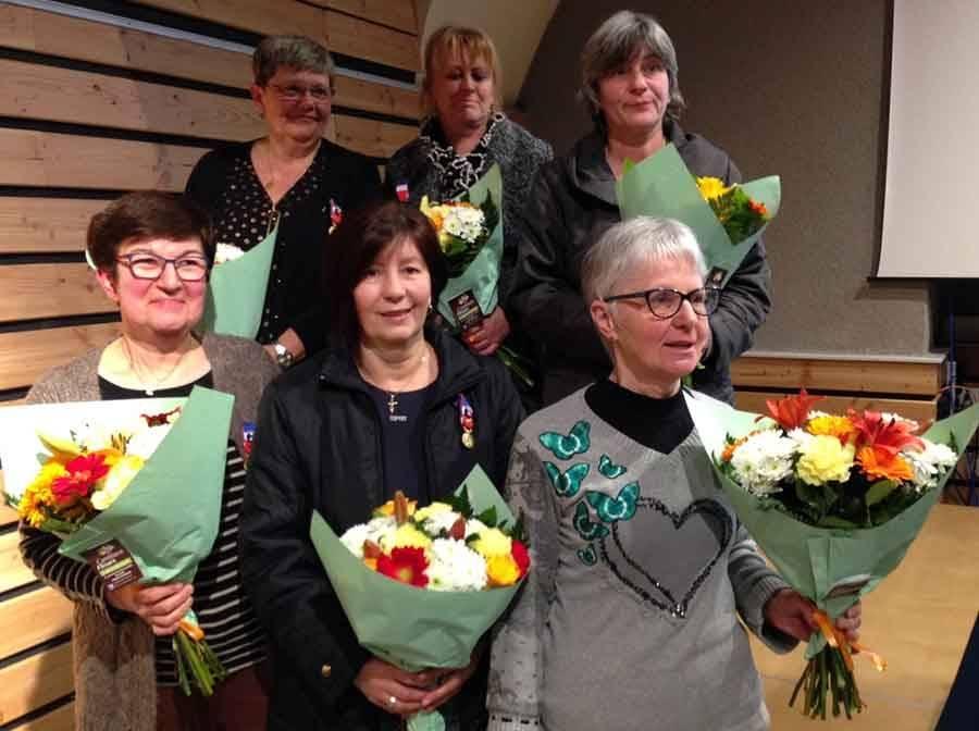 Sept médailles du travail à l'association d'aide à domicile UNA Sainte-Elisabeth