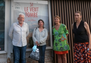 Alain Deleage, Emmanuelle Pagano, scénariste écrivaine, Blandine Berta et Anne-Marie Bacha, bénévoles à Cinema Scoop