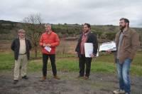 L'amenagement éco-touristique du plan d'eau de Fay a été présenté sur le terrain au président de Région.