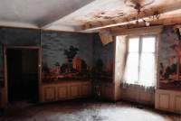 Le papier peint tel qu'il était dans la maison Girard