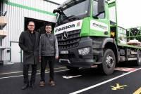 Thierry Battaglia, chef de secteur, et Bruno Roux, chef d'agence de Chausson Matériaux au Chambon-sur-Lignon.