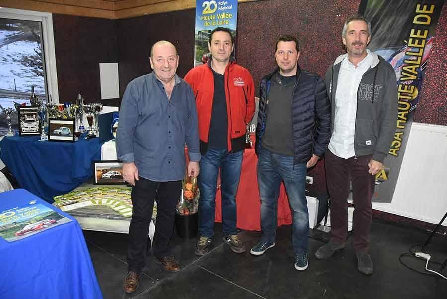 Christian Chalindar, Florent Sabatier, Arnaud Masclaux et Jean-Pierre Vital