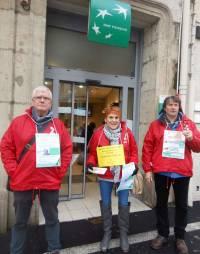 Une action de soutien d'Attac en Velay à Nicole Brend