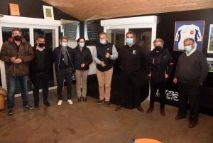 Le staff du XV de France féminin de rugby en repérage sur le Haut-Lignon