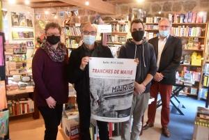 Jacky Rocher, son éditeur, et les libraires de La BoÎte à soleils à Tence