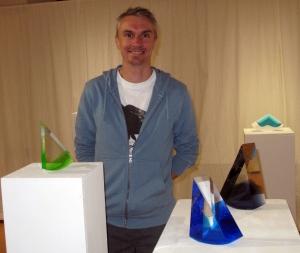 Lalouvesc : Antoine Rault expose ses pâtes de verre au Carrefour des arts