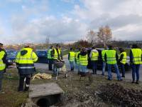 Gilets jaunes : 150 manifestants au rond-point à Saint-Just-Malmont
