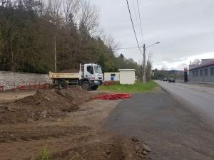 Brives-Charensac : des travaux d'enfouissement et une circulation alternée dans l'avenue des Sports