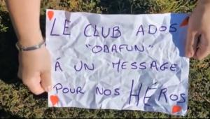 """Saint-Pal-de-Mons : les adolescents réalisent une vidéo """"pour les héros du quotidien"""""""