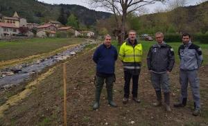 Goudet : après la crue 2017, les berges de l'Holme restaurées