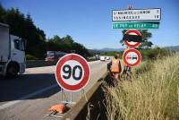 Les panneaux à 80 km/h ne seront restés qu'une semaine