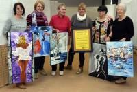 Aurec-sur-Loire : six peintres amateurs exposent ce week-end à la Maison des associations