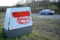 Radar tagué de Saint-Hostien : cette fois-ci, c'est signé