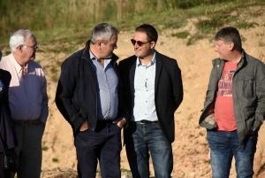 Robert Oudin, Bernard Souvignet, Jean-Michel Poinas et Gilles Jury lors d'une récente réception à Tence