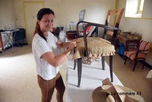 l'atelier de la tapissière Justine Gandon à Saint-André-en-Vivarais