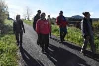 Ils ont marché dans les pas des pèlerins de Queyrières à Saint-Julien-Chapteuil
