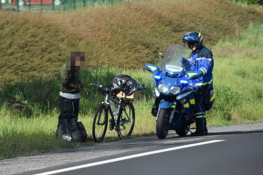 Yssingeaux : une cycliste interpellée alors qu'elle circulait sur la RN88