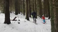 Monistrol-sur-Loire : des lycéens montent le mont Alambre en ski de randonnée