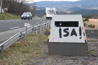 Un tag énigmatique sur le radar mobile d'Yssingeaux