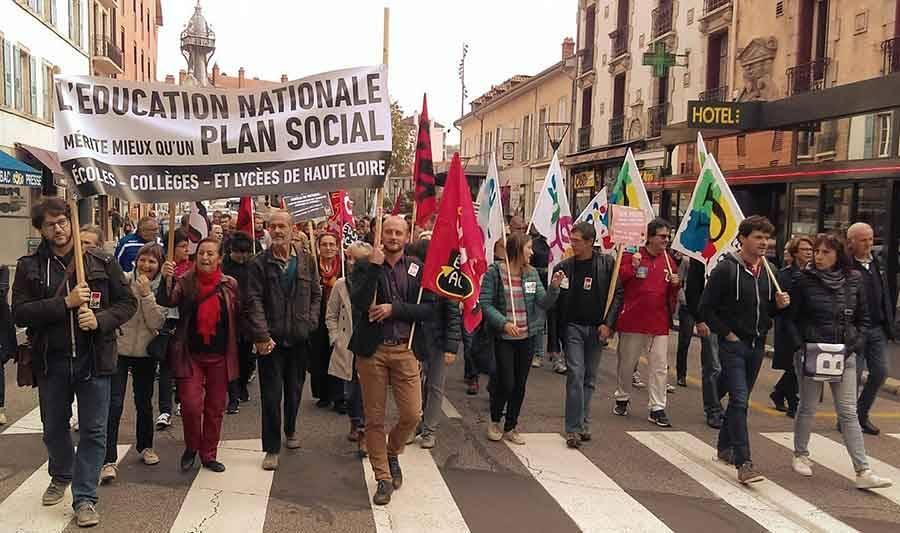 Des enseignants créent la Coordination de luttes de l'enseignement public de Haute-Loire