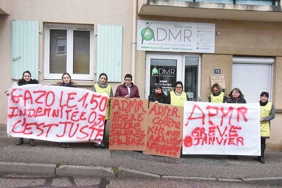 Saint-Ferréol-d'Auroure : 60 % de grévistes à l'ADMR