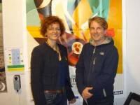 Elisabeth Cuffel, présidente de Ciné Tence, et Laurent Guerrier, membre du comité de sélection international..