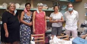 De gauche à droite : Chantal Aubert (secrétaire suppléante), Marie-Odile Cadena (secrétaire), Monique Bonnet Casson (présidente), Véronique Cizeron (vice-présidente), Hervé Coupier (trésorier).