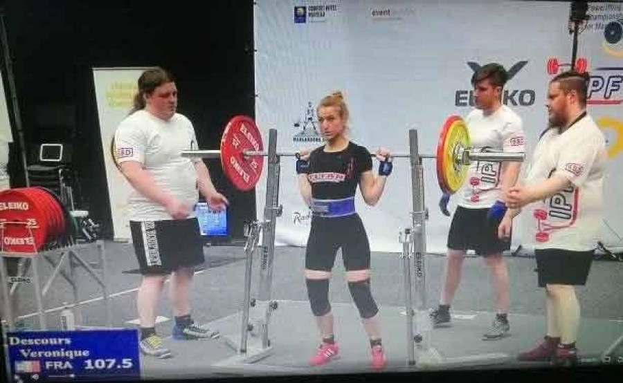 Force athlétique : une médaille de bronze aux championnats d'Europe pour Véronique Descours