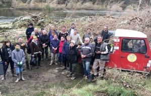 Vingt-six volontaires pour nettoyer les sentiers des bords de Loire