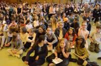 Le gymnase de La Lionchère était garni par les parents et grands-parents.